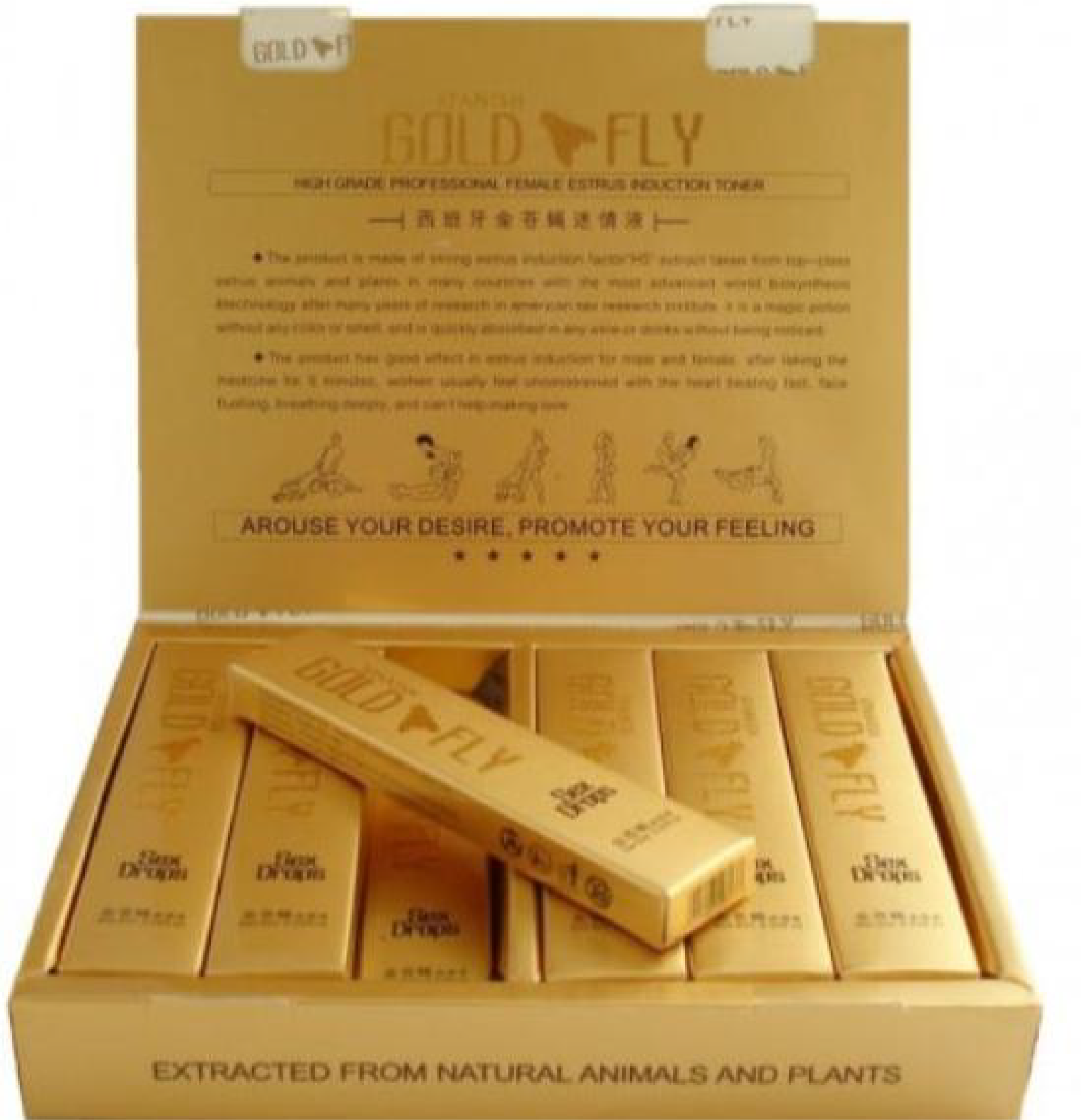 Spanish Gold Fly Female Arousal Sex Drops